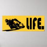 Poster del amarillo de la vida de Moto