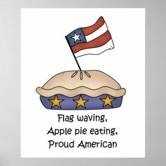 Poster del americano de la empanada de Apple