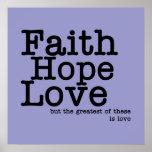 Poster del amor de la esperanza de la fe