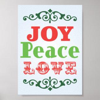 Poster del amor de la paz de la alegría