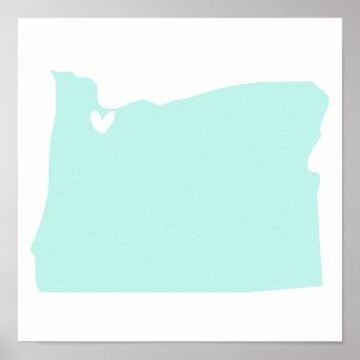 Poster del amor de Portland, Oregon