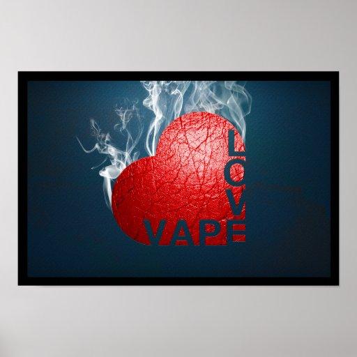 Poster del amor de Vape