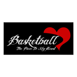 Poster del amor del baloncesto