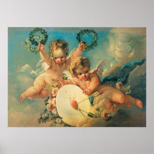 Poster del amor del Cupid del vintage