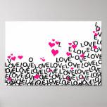Poster del amor del el día de San Valentín