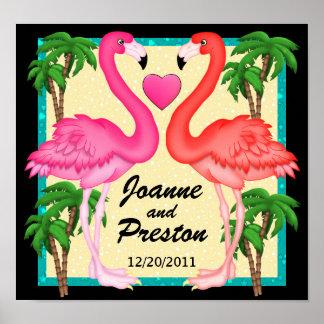 Poster del amor del flamenco del paraíso