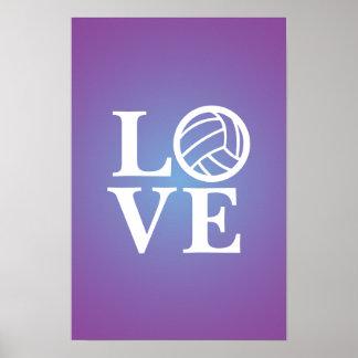 Poster del amor del voleibol
