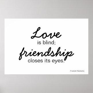 Poster del amor y de la amistad