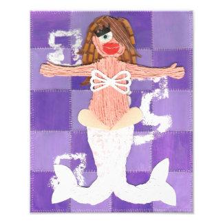Poster del ancla de la sirena fotografías