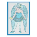 Poster del ángel azul