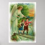 Poster del ángel de guarda del vintage