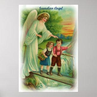 Poster del ángel de guarda del vintage póster