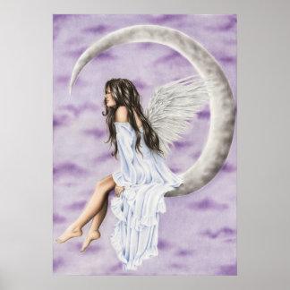 Poster del ángel de la luna