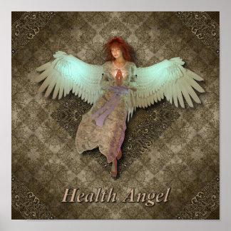 Poster del ángel de la salud
