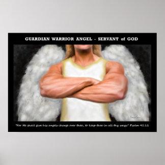 Poster del ángel del guerrero del guarda