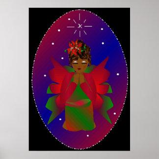 """Poster del ángel del navidad"" Póster"