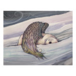 Poster del ángel del oso polar por Molly Harrison