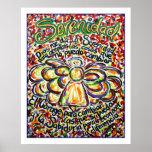Poster del ángel del rezo de la serenidad (borde b