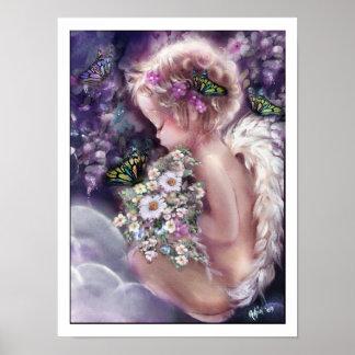 Poster del ángel. El jardín del cielo