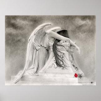 Poster del ángel que llora póster