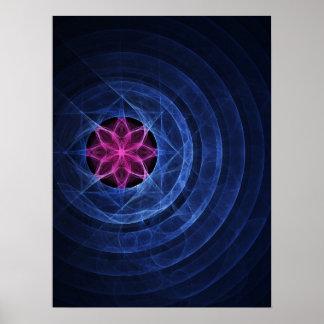 poster del anillo del círculo del loto