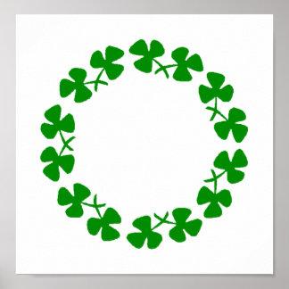 Poster del anillo del trébol del día de St Patrick