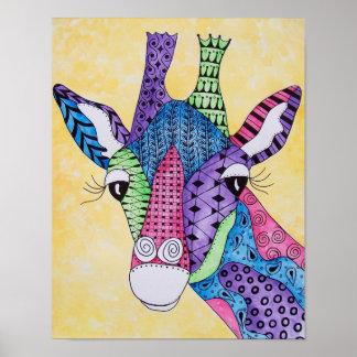Poster del animal de la jirafa del zen
