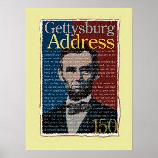 Poster del aniversario de la dirección de Gettysbu