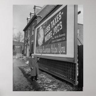 Poster del Anti-Impuesto los años 30