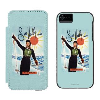 Poster del anuncio de Gretchen Fraser Funda Billetera Para iPhone 5 Watson
