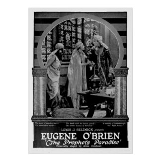 Poster del anuncio de la película muda a partir de