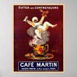 Poster del anuncio de París Francia del vintage de