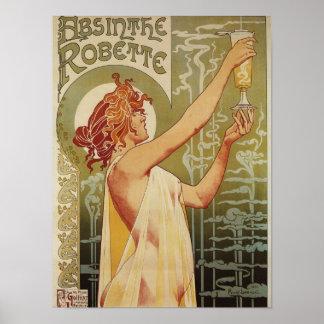 Poster del anuncio del ajenjo de Robette