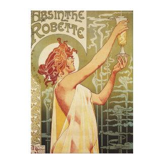 Poster del anuncio del ajenjo de Robette Lienzo Envuelto Para Galerías
