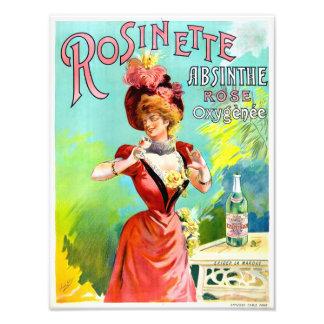 Poster del anuncio del vintage del ajenjo de impresión fotográfica