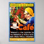 Poster del anuncio del vintage del café de Bebida Póster