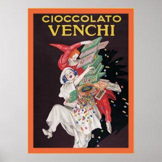 Poster del anuncio del vintage del ~ de Cioccolato