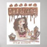 Poster del apego del chocolate