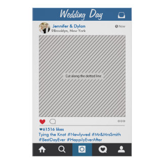 Poster del apoyo del fiesta del marco de Instagram