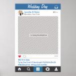 Poster del apoyo del fiesta del marco de Instagram Póster