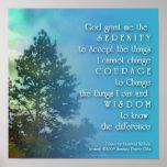 Poster del árbol alto del rezo de la serenidad