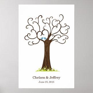 Poster del árbol de la huella dactilar (Heartastic