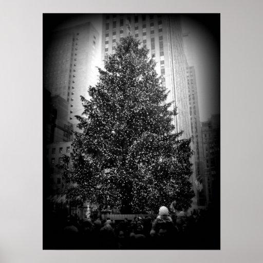 Poster del árbol de navidad de Rockefeller