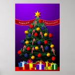 Poster del árbol de navidad para su pared