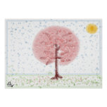 Poster del árbol de Sakura