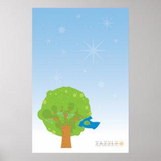 Poster del árbol de Zazzle