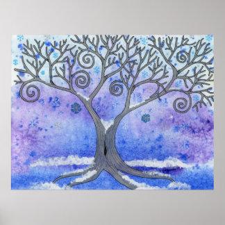 Poster del árbol del invierno