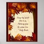Poster del árbol del otoño