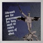 Poster del arcángel de San Miguel - la policía bli