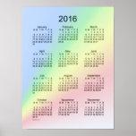 Poster del arco iris de 2016 calendarios